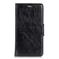 Coque Portefeuille Livre Cuir Etui Clapet pour Asus ZenFone V500KL Noir