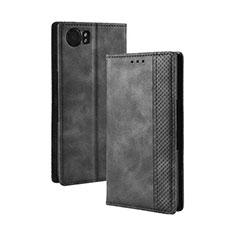 Coque Portefeuille Livre Cuir Etui Clapet pour Blackberry KEYone Noir