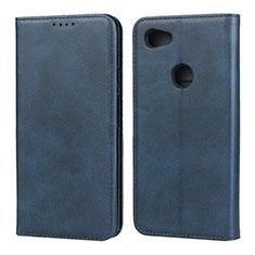Coque Portefeuille Livre Cuir Etui Clapet pour Google Pixel 3a Bleu
