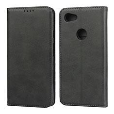 Coque Portefeuille Livre Cuir Etui Clapet pour Google Pixel 3a XL Noir