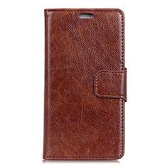 Coque Portefeuille Livre Cuir Etui Clapet pour HTC U12 Life Marron