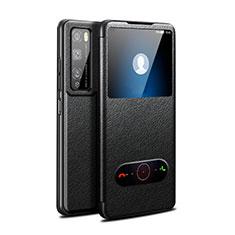 Coque Portefeuille Livre Cuir Etui Clapet pour Huawei Enjoy 20 Pro 5G Noir