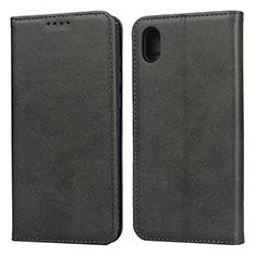 Coque Portefeuille Livre Cuir Etui Clapet pour Huawei Enjoy 8S Noir