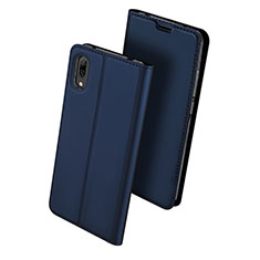 Coque Portefeuille Livre Cuir Etui Clapet pour Huawei Enjoy 9 Bleu