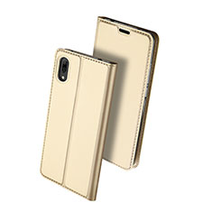 Coque Portefeuille Livre Cuir Etui Clapet pour Huawei Enjoy 9 Or
