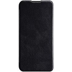 Coque Portefeuille Livre Cuir Etui Clapet pour Huawei Enjoy 9s Noir