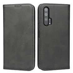 Coque Portefeuille Livre Cuir Etui Clapet pour Huawei Honor 20 Pro Noir