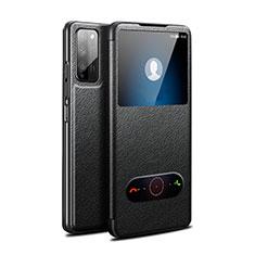 Coque Portefeuille Livre Cuir Etui Clapet pour Huawei Honor 30 Lite 5G Noir
