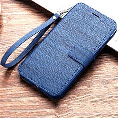 Coque Portefeuille Livre Cuir Etui Clapet pour Huawei Honor 8A Bleu