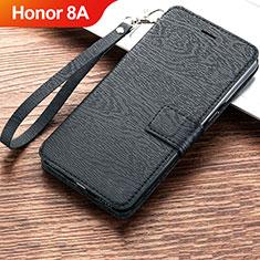 Coque Portefeuille Livre Cuir Etui Clapet pour Huawei Honor 8A Noir