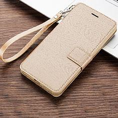 Coque Portefeuille Livre Cuir Etui Clapet pour Huawei Honor 8A Or