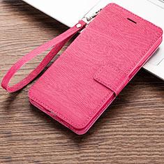 Coque Portefeuille Livre Cuir Etui Clapet pour Huawei Honor 8A Rose Rouge