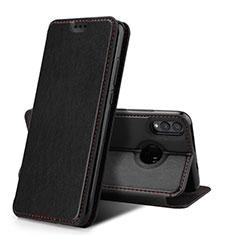 Coque Portefeuille Livre Cuir Etui Clapet pour Huawei Honor 8X Noir