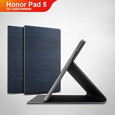 Coque Portefeuille Livre Cuir Etui Clapet pour Huawei Honor Pad 5 10.1 AGS2-W09HN AGS2-AL00HN Bleu