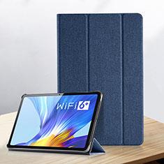 Coque Portefeuille Livre Cuir Etui Clapet pour Huawei Honor Pad V6 10.4 Bleu