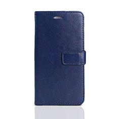 Coque Portefeuille Livre Cuir Etui Clapet pour Huawei Honor Play 7 Bleu