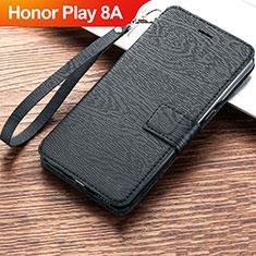 Coque Portefeuille Livre Cuir Etui Clapet pour Huawei Honor Play 8A Noir