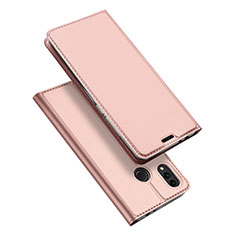 Coque Portefeuille Livre Cuir Etui Clapet pour Huawei Honor Play 8C Or Rose