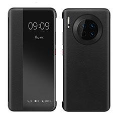 Coque Portefeuille Livre Cuir Etui Clapet pour Huawei Mate 30 Noir