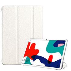 Coque Portefeuille Livre Cuir Etui Clapet pour Huawei MatePad 10.4 Blanc