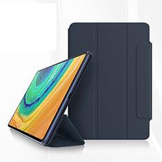 Coque Portefeuille Livre Cuir Etui Clapet pour Huawei MatePad Pro Bleu