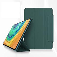 Coque Portefeuille Livre Cuir Etui Clapet pour Huawei MatePad Pro Vert