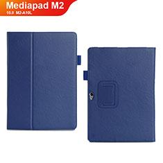 Coque Portefeuille Livre Cuir Etui Clapet pour Huawei MediaPad M2 10.0 M2-A10L Bleu