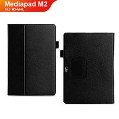 Coque Portefeuille Livre Cuir Etui Clapet pour Huawei MediaPad M2 10.0 M2-A10L Noir