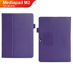 Coque Portefeuille Livre Cuir Etui Clapet pour Huawei MediaPad M2 10.0 M2-A10L Violet