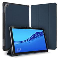 Coque Portefeuille Livre Cuir Etui Clapet pour Huawei MediaPad M5 Lite 10.1 Bleu