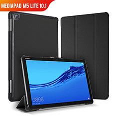 Coque Portefeuille Livre Cuir Etui Clapet pour Huawei MediaPad M5 Lite 10.1 Noir