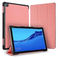 Coque Portefeuille Livre Cuir Etui Clapet pour Huawei MediaPad M5 Lite 10.1 Rose
