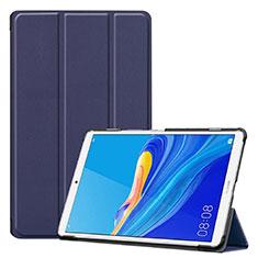 Coque Portefeuille Livre Cuir Etui Clapet pour Huawei MediaPad M6 8.4 Bleu