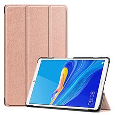 Coque Portefeuille Livre Cuir Etui Clapet pour Huawei MediaPad M6 8.4 Or Rose