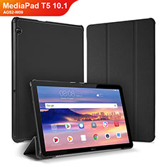 Coque Portefeuille Livre Cuir Etui Clapet pour Huawei MediaPad T5 10.1 AGS2-W09 Noir