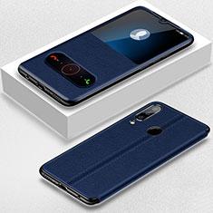 Coque Portefeuille Livre Cuir Etui Clapet pour Huawei Nova 4e Bleu