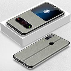 Coque Portefeuille Livre Cuir Etui Clapet pour Huawei Nova 4e Gris