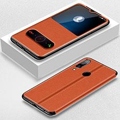 Coque Portefeuille Livre Cuir Etui Clapet pour Huawei Nova 4e Marron