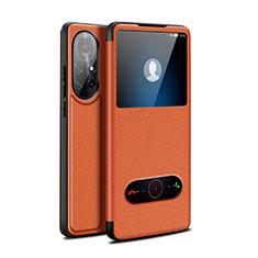 Coque Portefeuille Livre Cuir Etui Clapet pour Huawei Nova 8 Pro 5G Marron