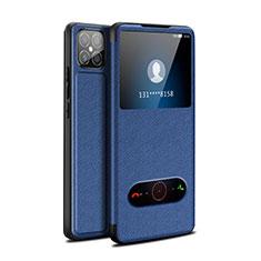 Coque Portefeuille Livre Cuir Etui Clapet pour Huawei Nova 8 SE 5G Bleu