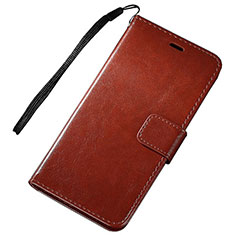 Coque Portefeuille Livre Cuir Etui Clapet pour Huawei Nova Lite 3 Marron