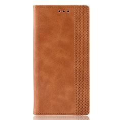 Coque Portefeuille Livre Cuir Etui Clapet pour Huawei P Smart (2020) Marron