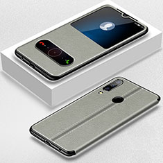 Coque Portefeuille Livre Cuir Etui Clapet pour Huawei P30 Lite Gris