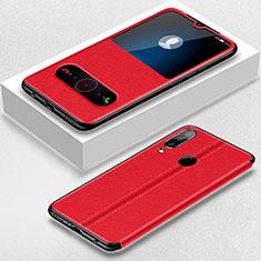 Coque Portefeuille Livre Cuir Etui Clapet pour Huawei P30 Lite Rouge