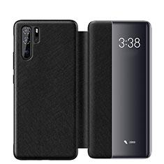 Coque Portefeuille Livre Cuir Etui Clapet pour Huawei P30 Pro Noir