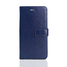 Coque Portefeuille Livre Cuir Etui Clapet pour Huawei Y5 Prime (2018) Bleu