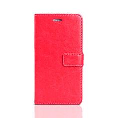 Coque Portefeuille Livre Cuir Etui Clapet pour Huawei Y5 Prime (2018) Rouge