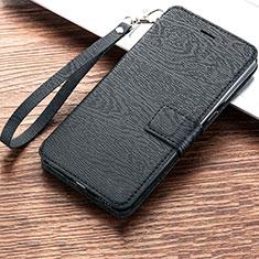 Coque Portefeuille Livre Cuir Etui Clapet pour Huawei Y6 (2019) Noir