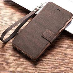Coque Portefeuille Livre Cuir Etui Clapet pour Huawei Y6s Marron