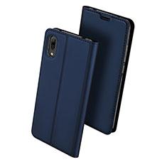 Coque Portefeuille Livre Cuir Etui Clapet pour Huawei Y7 Prime (2019) Bleu